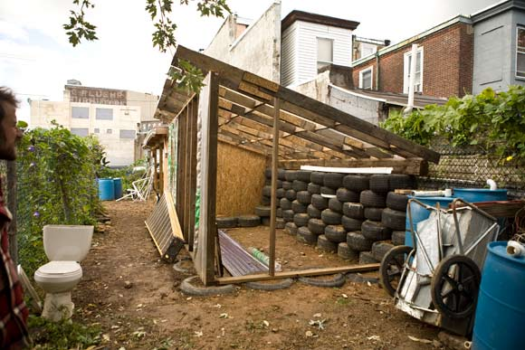 The beginnings of the first Earthship project in a major U.S. city in Kensington