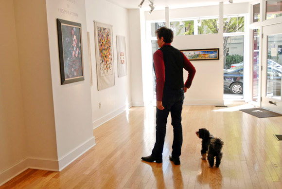 Artist Jeriman Stoltzfus at his Gallery - Prince Street