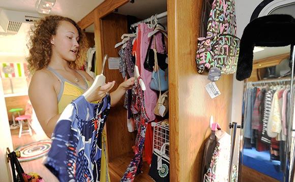 Organizing vintage dresses