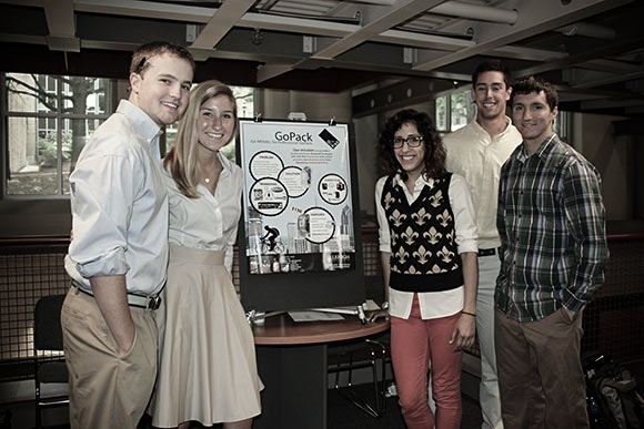 Students in Lehigh University�s undergraduate Entrepreneurship 101 course present their final projects.