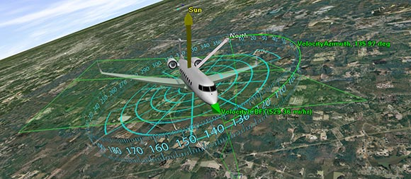 AGI_IFE � AGI software is used for inflight entertainment. From takeoff to landing, aircraft passengers can use STK�s interactive 3D environment to view real-time flight information and explore places of interest.