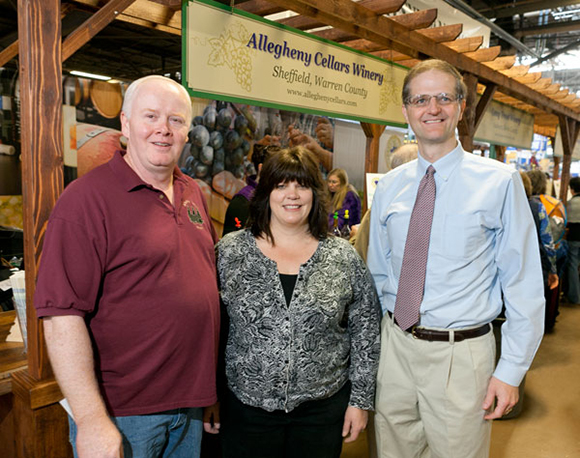 Alan & Tina with Senator Scott Hutchinson 2013 Farmshow