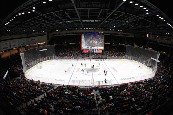 View inside the Phantoms new puck palace