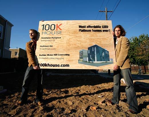 100K House Sales Sign