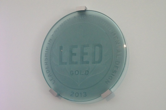 The new section of the building is LEED certified