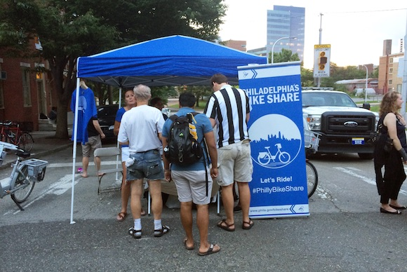 Spreading the word at the Lancaster Avenue Night Market
