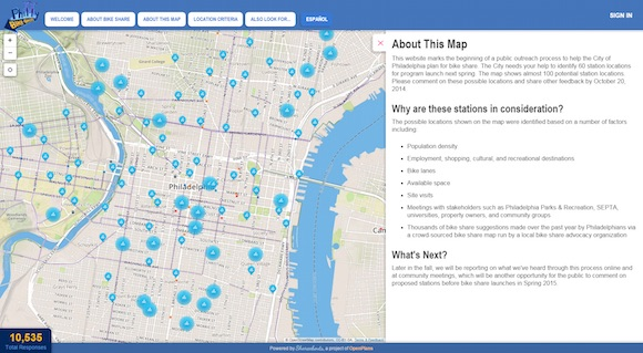Proposed locations for Indego