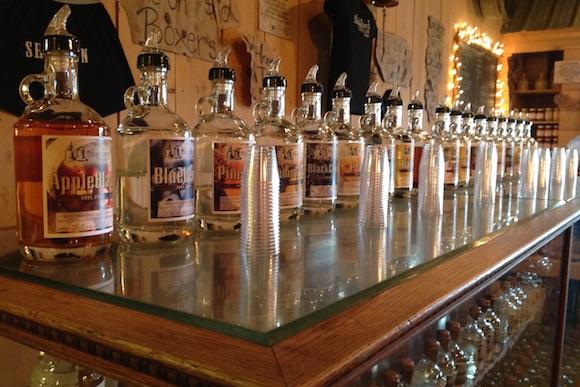 The offerings at Blackbird Distillery