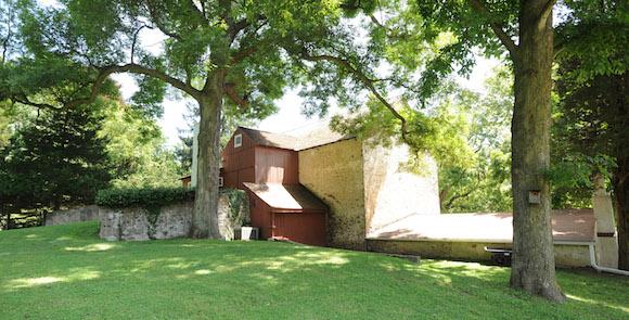 Baldwin's Book Barn has an idyllic setting