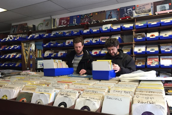 Browsing at the Attic Record Store