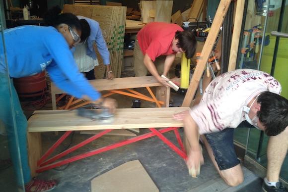 Building Heroes get their hands dirty