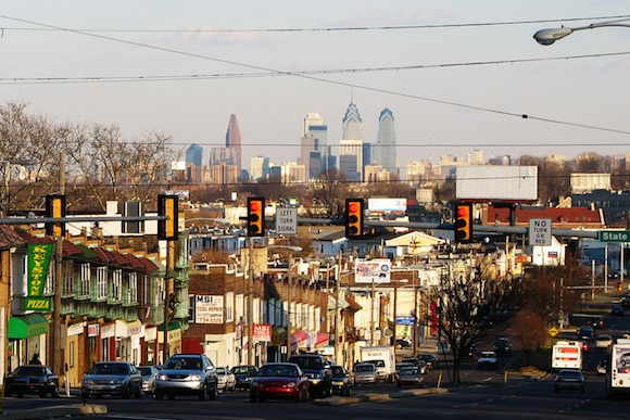 The skyline from Upper Darby