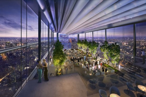 A rendering of The Four Seasons Lobby