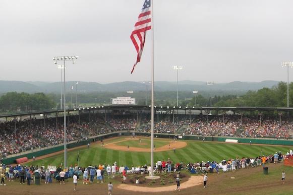 A Little League World Series game at Howard J. Lamade Stadium