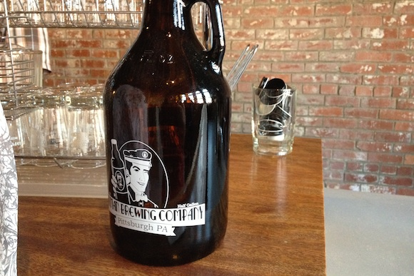 A growler at Milkman Brewing