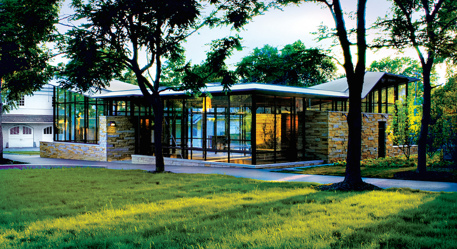 The new, green Orientation Center.