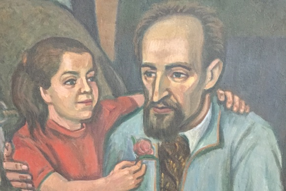A painting of Maxo Vanka and his daughter