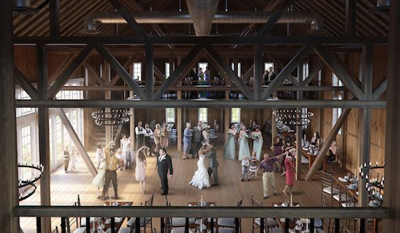 Renderings of a wedding at Wyndridge Farm