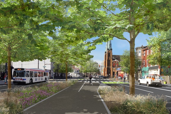 The proposed Spring Garden Greenway