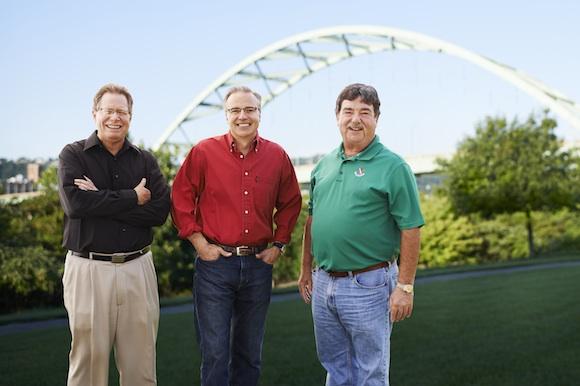 Rich Lunak, Gary Glausser and Frank Demmler, managing partners of Riverfront Ventures