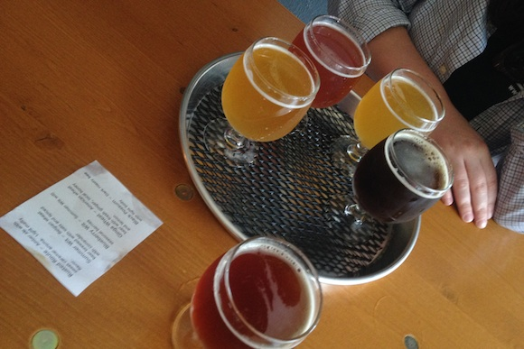 Beers at Roundabout Brewery