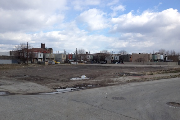 The future site of the Grace Townhomes