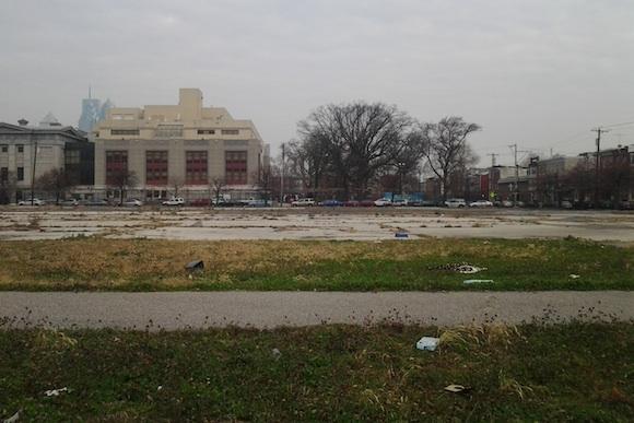The vacant lot at Broad and Washington
