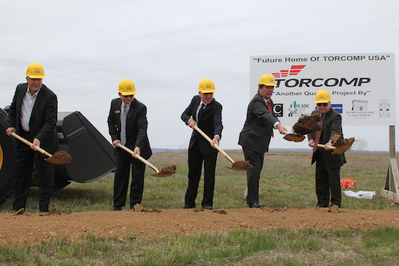 With support from Team PA, officials break ground on a new manufacturing plant for a Brazilian company that is locating its U.S. headquarters in Franklin County, creating 73 new jobs.