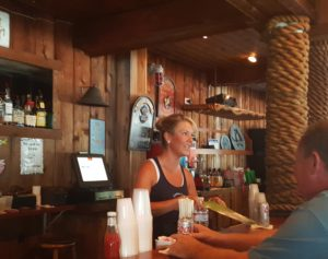 Becca Gutosky, bar manager at Greene Cove Yacht Club