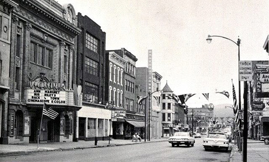 A historical photo of downtown Tamaqua