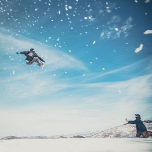 Snowboards from Gilson, a PA company, take flight