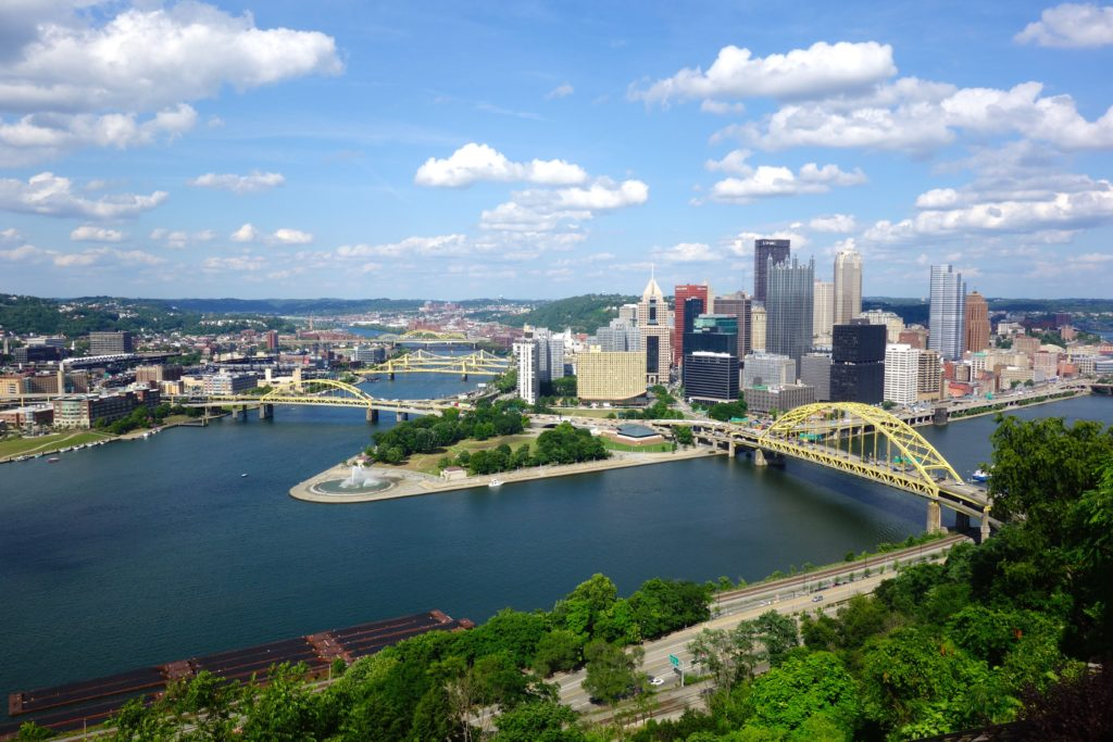 A view from the incline in Pittsburgh