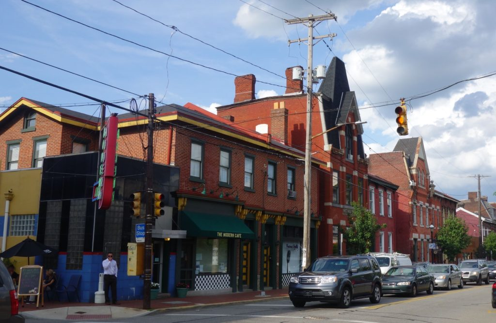 The Mexican War Streets neighborhood in Pittsburgh