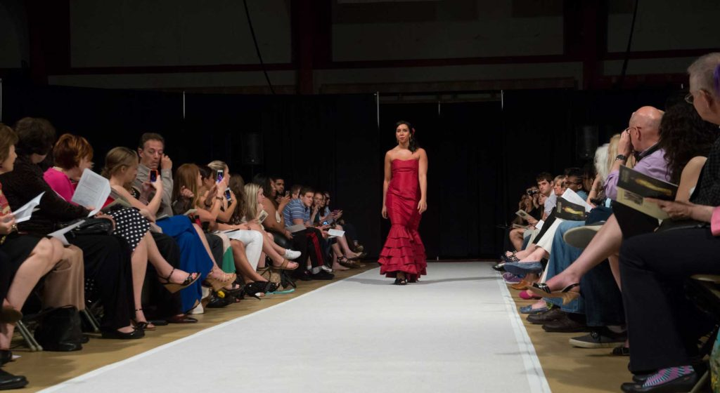 A student fashion show at Albright College