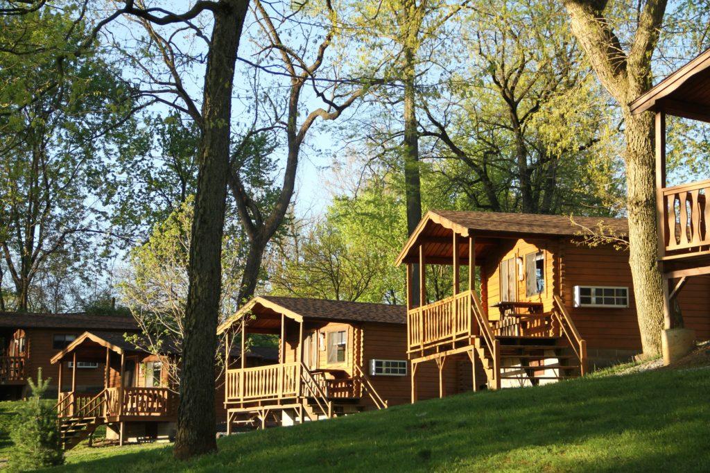 Rental cabins at Hersheypark