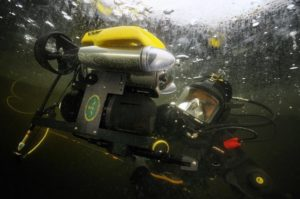 A underwater robot from VideoRay