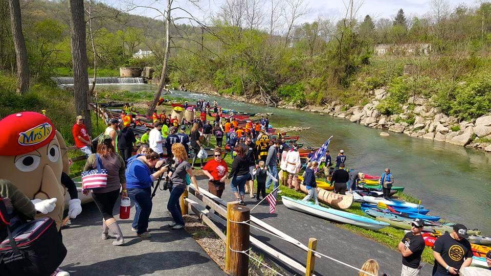 The annual Spring Canoe Race