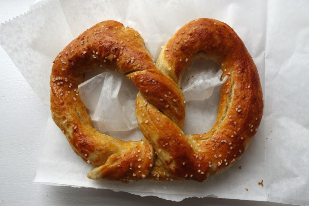 The More Things Change: A pretzel from Immergut Soft Pretzels in Intercourse