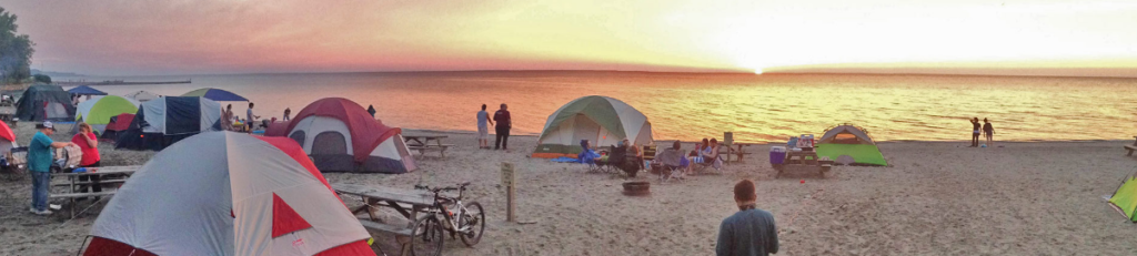 Sara's Campground on Lake Erie
